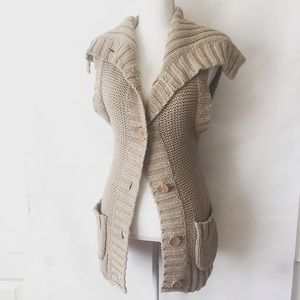 Free People Jackets & Coats - Free People Knit Cowl Vest